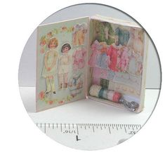 Dolly Sewing Box and Paper Doll Kit by jdayminis on Etsy, $12.50