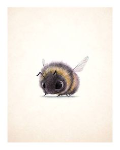 Animal Drawings Overwhelmingly Cute Animal Illustrations by Sydney Hanson - I've stumbled upon some Overwhelmingly Cute Animal Illustrations by Sydney Hanson. Their cuteness will surely melt your tiny little hearts. Art And Illustration, Cute Animal Illustration, Animal Illustrations, Bumble Bee Illustration, Illustrations Posters, Cute Drawings, Animal Drawings, Sketches Of Animals, Scary Drawings