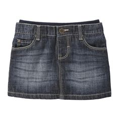 Toddler Girls' Denim Skirt from Joe Fresh. Wear now, layer over tights later. This skirt is oh-so-versatile. Only $19.