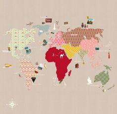 P120202-6 Vlies-Tapete Kinder-Weltkarte Bunt Beige Whole Wide World Mr. Perswall Phototapeten http://www.amazon.de/dp/B007Y5XETI/ref=cm_sw_r_pi_dp_py68tb0PMG9RA