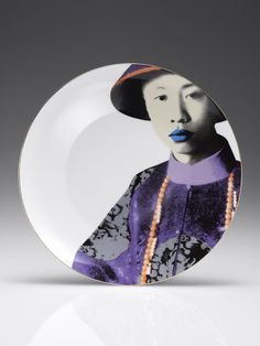 Puyi colour decorative plate By Shanghai Tang