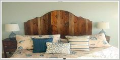 How to Create a Rustic Wood King Headboard - Pretty Handy Girl Bedroom Decor, Headboards For Beds, Headboard Designs, Rustic Wood, Bedroom Design Diy, Rustic Wood Headboard, Headboard, King Headboard, Home Decor