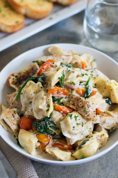 Cheese Tortellini with Creamy Goat Cheese Sauce