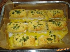Zapečené filé na česneku se sýrem Zucchini, Sushi, Chicken, Vegetables, Cooking, Ethnic Recipes, Arrow Keys, Close Image, Food Ideas
