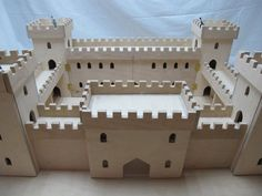 For Sale - Miniature Wooden Castle - The Dolls House Exchange Wooden Castle, Toy Castle, Cardboard Castle, House Exchange, Castle Project, Bg Design, Wooden Dollhouse, Wood Toys, Woodworking Shop