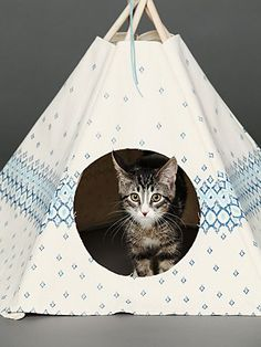 Printed Cat Teepee