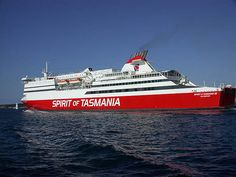 This is the ferry that runs between, my home state of, Tasmanian and Victoria on the mainland of Australia. Spirit of Tasmania by mpgilbert, via Flickr