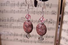 Sterling silver earrings made with a by CreativeWorkStudios