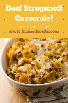 Everyone's favorite retro meal, beef stroganoff, now in casserole form with this easy recipe!