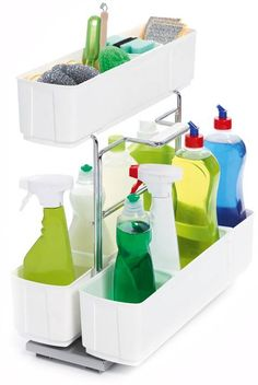Kitchen Storage & Accessories Storage Unit Pull-Out, Cleaning Caddy - order from the Häfele America Shop. Cleaning Caddy, Cleaning Agent, Cleaning Supplies, Wire Basket Shelves, Wire Baskets, Door Storage, Kitchen Storage, Plastic Bag Holders, Sink Organizer