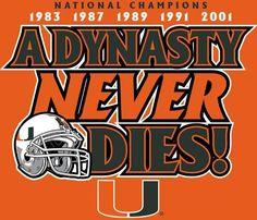 Miami Hurricanes - A Dynasty Never Dies Miami Hurricanes Gear, University Of Miami Hurricanes, Hurricanes Football, U Of M Football, College Football Teams, Football Helmets, College Sport, Football Uniforms, Sports Teams