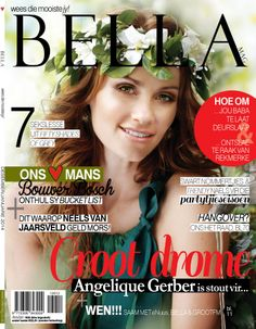 Our beautiful Angelique Gerber ( Wimberly Wimberly Milton Gerber) on the latest cover of BellaMag_SA ( Magazines, Cover, Beautiful, Journals