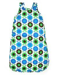 Babyslaapzak met blauwe, groene en bruine appels - Katvig