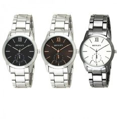 New Henley Men's Fashion Roman Dial Watch now available at exclusive prices!!  http://www.dkwholesale.com/henley-men-s-fashion-roman-number-dial-bracelet-watch-h02137.html