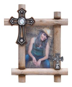 Look what I found on #zulily! Wooden Cross Photo Frame by UMA Enterprises #zulilyfinds