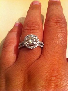 I have a petite pave band on my engagement ring. My wedding band will be the same. My finger is 5.5 in size.