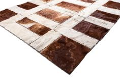 "Rectangular Hair-on-Hide PATCHWORK RUG 5'11"" x 6'7"" / Hand-Made / Hand-Stitched / Hand-Tanned / PREMIUM QUALITY / $1.434 / FREE SHIPPING / Shop at: https://www.chairish.com/shop/aydin"