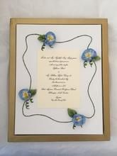 Items similar to The Elizabeth Display Frame-Hand Embroidered Silk Ribbon Flower Frame for Wedding Invitation/Program, Birth Announcement, Picture, etc. on Etsy Summer Arts And Crafts, Creative Wedding Gifts, Frame Display, Wood Picture Frames, Embroidered Silk, Painting On Wood, Anniversary Gifts, Baby Gifts, Personalized Gifts
