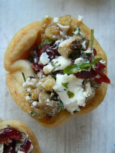 The Baker's Daughter: Mushroom and goat's cheese tartlettes