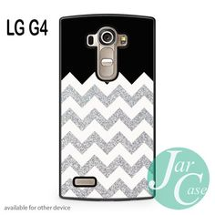 Cool Silver Glitter Chevron Phone case for LG G4 and other cases