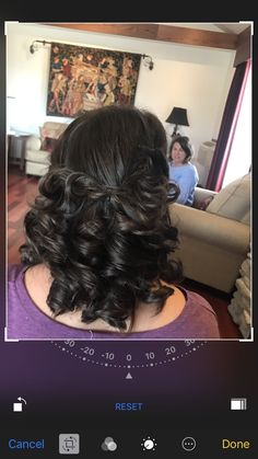 Curls with twisted bangs