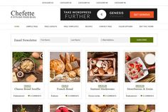 Chefette // Genesis Theme by Hunniemaid on Creative Market