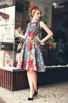 Elise Oriental High Tea Dress
