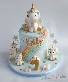 Image result for unicorn fondant cake