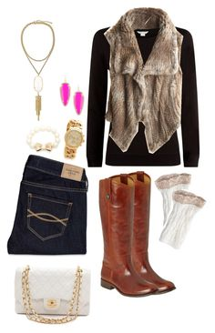 """""""Chanel says it all"""" by clauialynn ❤ liked on Polyvore featuring Monsoon, Abercrombie & Fitch, Calypso St. Barth, Frye, Michael Kors, Kendra Scott, Kate Spade and Chanel"""