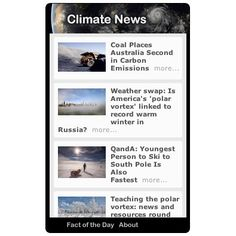 Be your own climate change news broadcaster: embed this widget in your feed / blog / website (Link contains code and instructions) http://www.gwfotd.com/index.php?pg=2