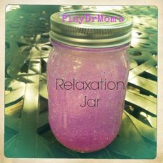 Tips on how to make and use a relaxation glitter jar from Play Dr. Mom