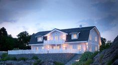 Slik blir det nye huset til Tone Damli på Blommenholm Home Fashion, Future House, Mansions, House Styles, Villa, Houses, Heart, Home Decor, Homes