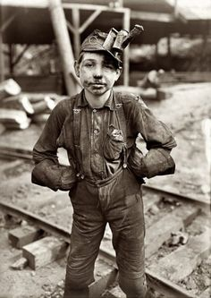 Lewis Wickes Hine, A young mine worker: Turkey Knob Coal Mine, Macdonald, West Virginia, 1908