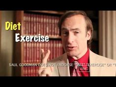 Have fast food restaurants tricked you into an unhealthy lifestyle? Criminal Lawyer Saul Goodman solicits expert legal advice on loosing weight. AMC : http:/. Saul Goodman, Dont Drink And Drive, Call Saul, Lawyers, Breaking Bad, Loose Weight, Fitness Diet, Hilarious, Fat