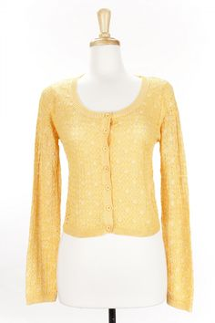 Dressing Your Truth - Type 1 Connect the Dots Cardigan Yellow Mustard.  I love this gold color.