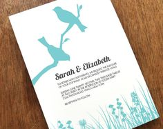 Printable Wedding Invitation  Love Birds by empapers on Etsy, $29.00