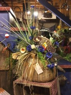fishing themed funeral arrangement - Bing Images
