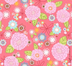 Pink blooms- floral by Jill McDonald