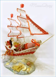 Candy Flowers, Candy Bouquet, Sweets, Chocolate, Handmade Gifts, Birthday, Boats, Ships, Fitness
