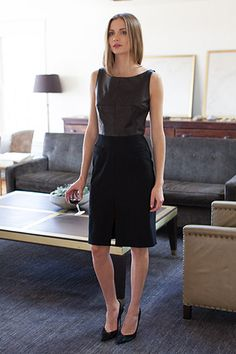 50's Dress - Leather and Wool | Emerson Fry