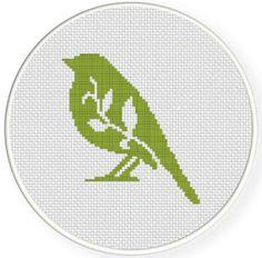 FREE Bird Foliage Cross Stitch Pattern