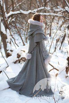 Manteau fantastique de laine grise « Héritière de l'hiver » d'ArmStreet 795€ bwah !!