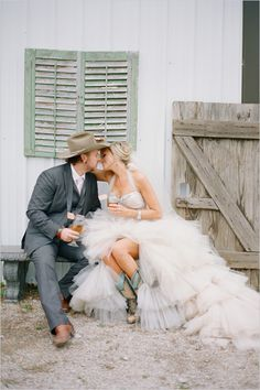 country western wedding ideas - just need mason jars instead of wine glasses... perfect