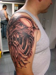 Tribal Eagle Tattoo for Men