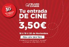 Entradas cine por 3,50€
