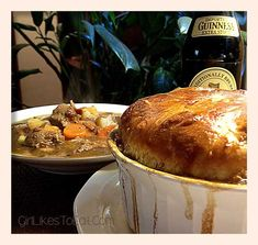 Yum! I can vouch for this recipe: great comfort food for autumn and winter. > Guinness Irish Stew in a Puff Pastry