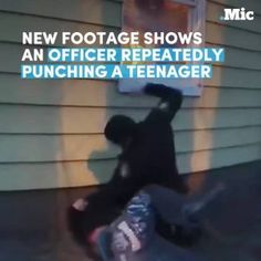 New video shows a police officer relentlessly punching a teenager. #news #alternativenews