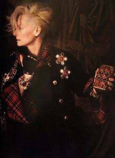 Tilda Swinton photographed by Karl Lagerfeld for the 2013 Chanel Paris Edinburgh collection