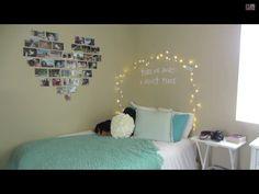 Cute room Ideas for teen Girl  Kg: So was ist sehr schön und macht es heimelig, auch mit Lichterkette und so