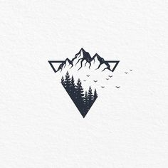 simple tattoos with meaning ; simple tattoos for women ; simple tattoos for women with meaning ; simple tattoos for women unique Montain Tattoo, Body Art Tattoos, Sleeve Tattoos, Men Tattoos, Simple Mens Tattoos, Unique Tattoos, Berg Tattoo, Natur Tattoos, Mountain Drawing